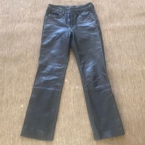 Guess real leather pants